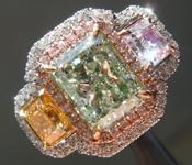 2.46ct Light Yellow-Green SI2 Radiant Cut Diamond Ring R7102