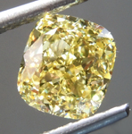 SOLD... Loose Yellow Diamond: 1.60ct Fancy Intense Yellow VVS2 Cushion Cut Diamond GIA R7126