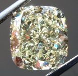 SOLD.....Loose Yellow Diamond: 4.02ct Fancy Light Yellow VVS2 Cushion Modified Brilliant Diamond GIA R7131