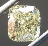 SOLD...Loose Yellow Diamond: 1.01ct Y-Z Light Yellow VS2 Cushion Modified Brilliant Diamond GIA R7116