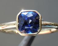 SOLD....1.08ct Blue Cushion Cut Sapphire Ring R7019