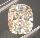 0.45ct U-V (Light Brown) SI1 Cushion Cut Diamond R6996