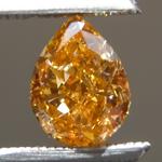 SOLD.....Loose Orange Diamond: .64ct Fancy Intense Yellow-Orange SI1 Pear Modified Brilliant Diamond GIA R7097