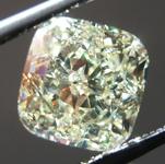SOLD.....Loose Yellow Diamond: 2.04ct Y-Z light Yellow VS2 Cushion Modified Brilliant Diamond GIA R7182