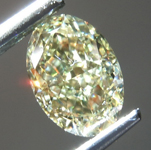 Loose Yellow Diamond: 1.03ct Fancy Light Yellow VVS2 Oval Shape Diamond GIA R7190