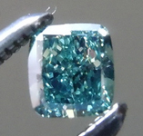 Loose Diamond: .17ct Fancy Deep Bluish Green VS2 Cushion Modified Brilliant Diamond GIA R7206