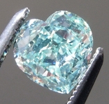 Loose Green Diamond: .69ct Fancy Intense Green SI1 Heart Shape Diamond GIA R7213