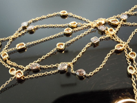 SOLD......Diamond Necklace: 12.76ct Natural Brown Mixed Shape Diamond Necklace R7109