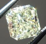Loose Yellow Diamond: .84ct Fancy Light Yellow VS1 Radiant Cut Diamond GIA R7240