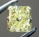 Loose Yellow Diamond: .72ct Fancy Yellow VS1 Radiant Cut Diamond GIA R7243