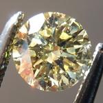 Loose Yellow Diamond: .40ct Fancy Light Yellow SI1 Round Brilliant Diamond GIA R7262