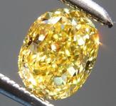 SOLD...........Loose Yellow Diamond: .79ct Fancy Vivid Yellow VVS2 Oval Shape Diamond GIA R7270