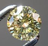 Loose Yellow Diamond: .35ct Fancy Yellow SI2 Round Brilliant Diamond GIA R7258