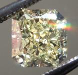 0.70ct Yellow SI1 Radiant Cut Diamond R7273