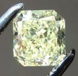 Loose Yellow Diamond: .63ct Fancy Yellow SI2 Radiant Cut Diamond GIA R7284