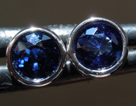 SOLD.......Sapphire Earrings: .68ctw Blue Round Brilliant Sapphire Earrings R7234