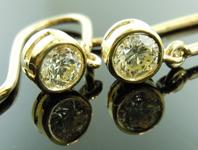 SOLD...0.60ctw M SI1 Round Brilliant Diamond Earrings R5539