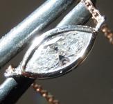 0.21ct F-G VS1 Marquise Diamond Necklace R7215