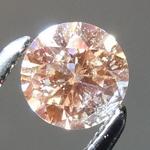 Loose Orange Diamond: .40ct Fancy Yellow Orange I1 Round Brilliant Diamond GIA R7254