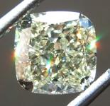 SOLD......Loose Yellow Diamond: 1.27ct W-X VVS2 Cushion Cut Diamond GIA R7335