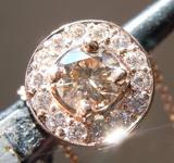 Diamond Pendant: .32ct Fancy Light Yellowish Brown I1 Round Brilliant Diamond Pendant R7255