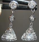 SOLD.........Diamond Earrings: .35cts F VS Trilliant Diamond Dangle Earrings R7252