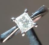 SOLD.....0.51ct K VS2 Princess Cut Diamond Ring R6922