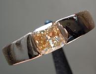 SOLD..... 0.80ct Orangy Yellow I1 Cushion Cut Diamond Ring R6766