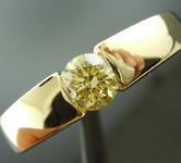 0.59ct Fancy Yellow SI2 Round Brilliant Diamond Ring R7278