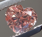 SOLD.....Loose Pink Diamond: .58ct Fancy Brown-Pink SI2 Heart Shape Diamond GIA R7423