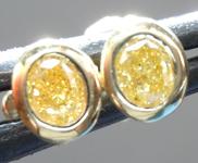 SOLD...Yellow Diamond Earrings: .30ctw Fancy Intense Yellow VS Oval Brilliant Diamond Earrings R7350