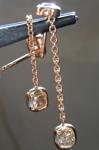 1.30ctw Deep Brown SI1 Cushion Cut Diamond Earrings R6469