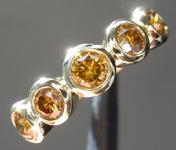 SOLD....SPECIAL!  0.88ctw Orangy Brown VS-SI Round Brilliant Diamond Ring R7383