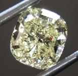 SOLD.......Loose Yellow Diamond: 1.11ct Fancy Light Yellow Internally Flawless Cushion Mixed Cut Diamond GIA R7442