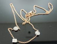 Diamond Necklace: .69ctw J-K Princess Cut and Round Brilliant Diamonds by the Yard Necklace R6039