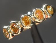 0.44cts Intense Orange Brown Oval Diamond Ring R7419