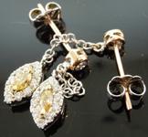 SOLD...Diamond Earrings: .57ctw Natural Multi Colored Diamond Halo Earrings R7294