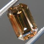 SOLD....Loose Brown Diamond: 1.00ct Fancy Deep Brown SI2 Emerald Cut Diamond R7490