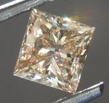 Loose Brown Diamond: 1.01ct Fancy Light Brown SI2 Princess Cut Diamond R7494