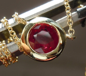 0.70ct Round Brilliant Ruby Necklace R7446