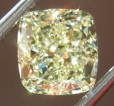SOLD.......Loose Yellow Diamond: 1.71ct Fancy Light Yellow IF Cushion Cut Diamond GIA R7503