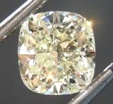 SOLD..........Loose Yellow Diamond: 1.12ct W-X I1 Cushion Cut Diamond GIA R7500