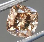 SOLD.......Loose Brown Diamond: 1.06ct Fancy Brown SI1 Cushion Cut Diamond R7498