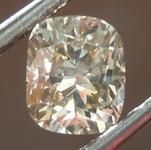 Loose Brown Diamond: 1.02ct Fancy Light Brown SI2 Cushion Cut Diamond R7493