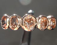 .97ctw Deep Orangy Brown VS-SI Oval Diamond Ring R7408