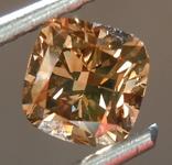 SOLD.....Loose Brown Diamond: 1.02ct Fancy Deep Brown SI1 Cushion Cut Diamond R7492