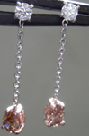 SOLD....0.46cts Brownish Yellow Pear Diamond Earrings R7412