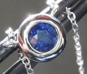 0.39ct Blue Round Brilliant Sapphire Necklace R7444