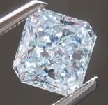 1.01ct  Bluish Green SI2 Radiant Cut Diamond R7485