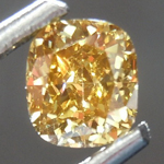 Loose Diamond: .43ct Fancy Deep Brown Yellow VS2 Cushion Cut Diamond GIA R7392